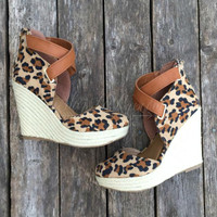 Stepping It Up Wedge - Leopard