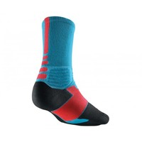 Nike HYPER Elite Crew Socks - Light Blue/Infrared | Lacrosse Unlimited