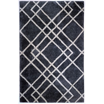 Astralis Collection Gray/Ivory Diamond Dogs Rug