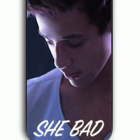 iPhone 5C Case - Rubber (TPU) Cover with Cameron Dallas She Bad To Number One Rubber Case Design