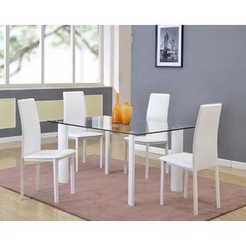 Chintaly Riana Dining Table In Clear Glass