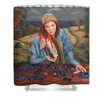 The Gypsy Fortune Teller - Shower Curtain 138