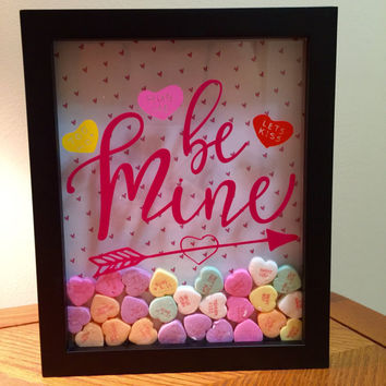Be Mine Valentine's Day Shadow Box Art