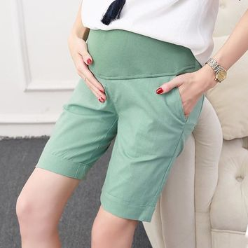 Hot Shorts Maternity Cotton Short Pants Summer For Pregnant Women Plus Size Clothing Pregnancy Clothes  Belly Skinny cotton 4XLAT_43_3