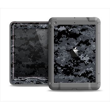 The Black Digital Camouflage Apple iPad Mini LifeProof Nuud Case Skin Set