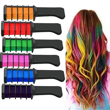Temporary Hair Chalk Hair Color Comb Dye Salon Party Fans Cosplay Tool For Women FM88 Macchar Cosplay Catalogue