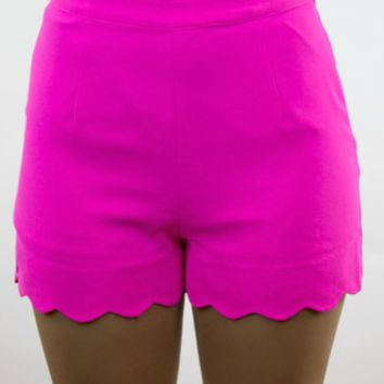 Double Zero | Rolling Hills Shorts in Hot Pink