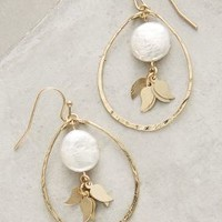 Pearl Flutter Drops by Anthropologie in Ivory Size: One Size Earrings
