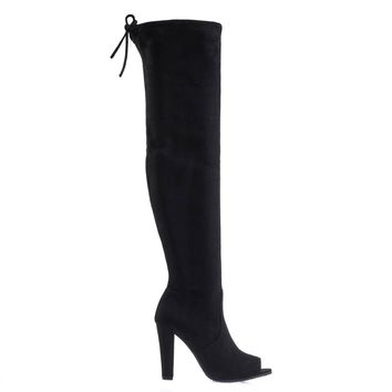 bf1eb866c2b Best Peep Toe Thigh High Boots Products on Wanelo