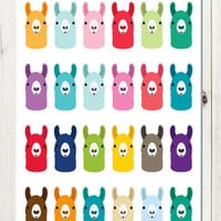 Rainbow Llama Stickers  for your Planner, scrapbook, calendar, etc