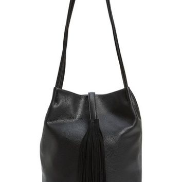 Sole Society 'Ariana' Faux Leather Tassel Bucket Bag | Nordstrom