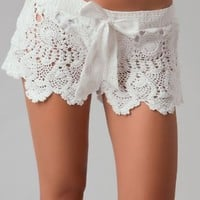 Letarte Womens Crochet Short