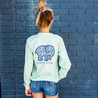 Classic Fit Mint Paisley Tee