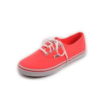 Vans Authentic Lo Pro Women Round Toe Canvas Pink Skate Shoe - Walmart.com