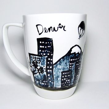 Long Distance Mug - Denver Colorado - Gift for Dad