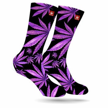 PURPS WEED MARIJUANA STONER SOCKS