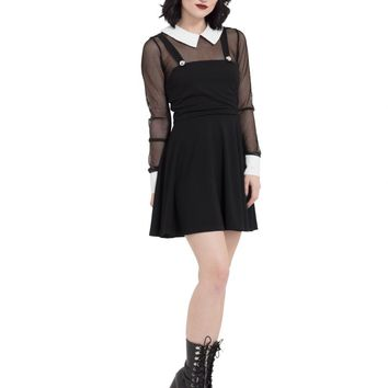 Jawbreaker Fishnet Collar Dress
