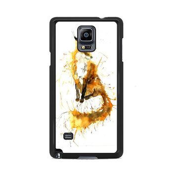 Splash Watercolor Fox Samsung Galaxy Note 3|4  Cases