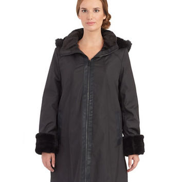 Marc New York Andrew Marc Faux Fur Accented Storm Coat