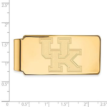 NCAA 14k Gold Plated Silver U of Kentucky Logo Money Clip