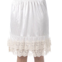 Skirt Extender Slip - White