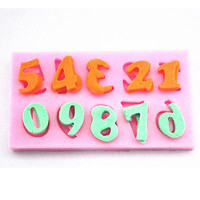 Silicone DIY 3D Number Fondant Mold Cake Chocolate Decorating Baking Mould
