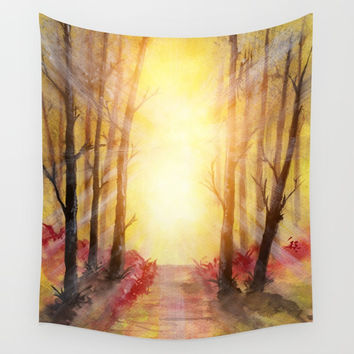 Into The Forest V Wall Tapestry by Marco Gonzalez
