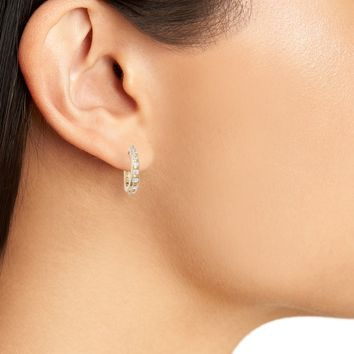 Treasure & Bond Casual Crystal Hoop Earrings | Nordstrom