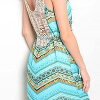 Sleeveless Lace Trim Tie Detail Baby Doll Dress