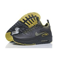 nike air max 90 ultra mid winter black yellower men running shoes sneaker 924458 300 002