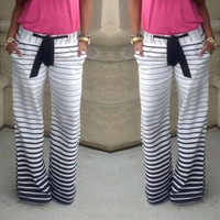 women Joggers Sport pants slim Striped Casual Trousers = 1652809156