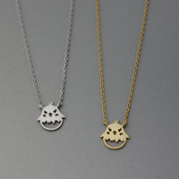 Cute Chick Bird Pendant Necklace  -  Available color as listed ( Gold, Silver )