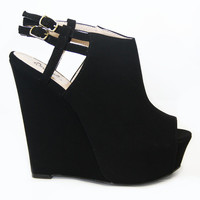 Black Nubuck Jasper-15 Wedges