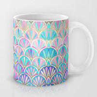 Glamourous Twenties Art Deco Pastel Pattern Mug by Micklyn