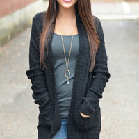 Warm Embraces Black Cardigan Sweater