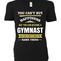 Happiness Is Being A Gymnast. Cool Gift - Ladies T-shirt