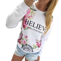 Women's Pullovers cotton Sportswear sweater