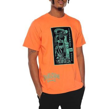 Yesterday Is Gone T Shirt Orange
