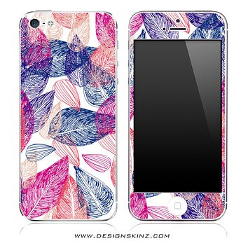 Seamless Floral Illustration iPhone Skin