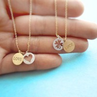 Love and Luck Coin, Necklace, Love/Luck sweet, cute necklace