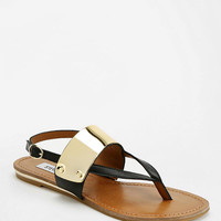 Urban Outfitters - Steve Madden Metal Plated Thong Sandal