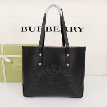 PEAP BURBERRY WOMEN'S LEATHER HANDBAG TOTE BAG