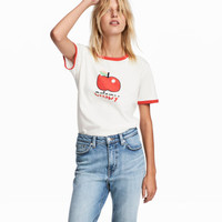 Printed Jersey T-shirt - from H&M