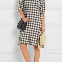 The Great - The Boxy Blouse plaid cotton-blend mini dress