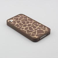 Big Dragonfly High Quality Giraffe Lines Hybrid Hard Back Case Cover /Coffee Frame Case Compatible with Apple iphone 4 4S Exquisite Retail Packing