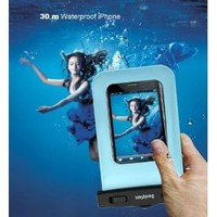 DandyCase Waterproof Case for Apple iPhone 4, 4S - Also Works with iPod Touch 3, 4, iPhone 3G, 3GS, & Other Smartphones - IPX8 Certified to 100 Feet [Retail Packaging by DandyCase] (Blue)