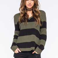 Rusty Vacant Womens Sweater Olive  In Sizes