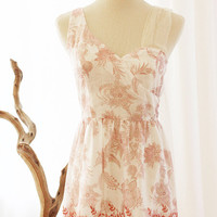 Le PETIT JARDIN  Rose Pink Asymmetrical by FleetCollection on Etsy