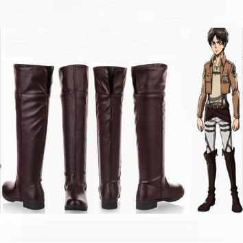 Cool Attack on Titan no   cosplay levi cosplay shoes boots accessories halloween costumes for women plus size men adult AT_90_11