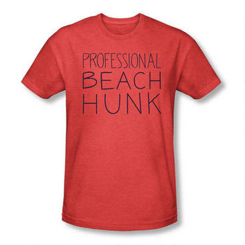 Steven Universe Professional Beach Hunk Adult Heather Red T-shirt |